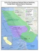 Map of expanded Gulf of the Farallones and Cordell Bank National Marine Sanctuaries. Credit: National Oceanic and Atmospheric Administration